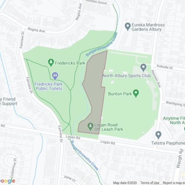 Logan Road Leash Free Area field guide